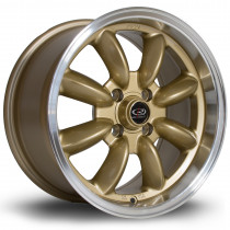 RB 15x8 4x100 ET30 Gold with Polished Lip