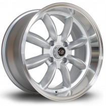RBR 17x8.5 4x114 ET4 Silver with Polished Lip