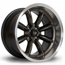 RBX 17x9.5 4x114 ET-19 Gunmetal with Polished Lip