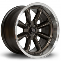 RBX 17x9 4x114 ET-13 Gunmetal with Polished Lip