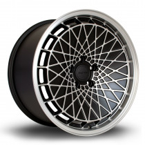 RM100 18x9.5 5x100 ET23 Flat Black with Matte Polished Face