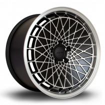 RM100 18x9.5 5x100 ET23 Flat Black with Matte Polished Face
