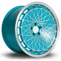 RM100 18x9.5 5x100 ET23 Teal with Matte Polished Face