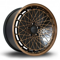 RM100 18x9.5 5x120 ET45 Flat Black with Sports Bronze Face