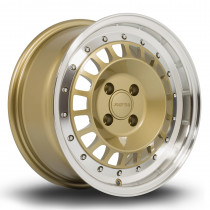 Speciale 15x7 4x100 ET35 Gold with Polished Lip