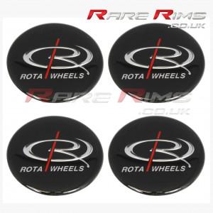Set of 4 Rota Medium Top Centre Cap Gel Badge Stickers