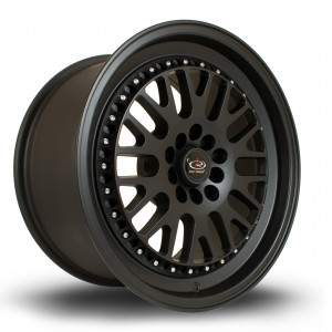 Flush 17x9.5 5x100 ET25 Flat Black