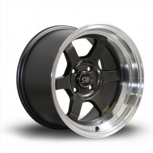 Grid-V 15x9 4x100 ET0 Gunmetal with Polished Lip