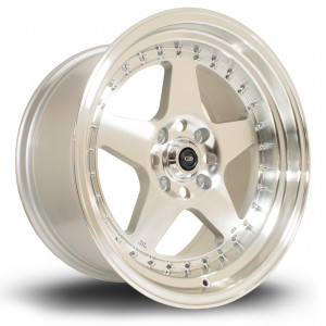 Kyusha 17x9 5x120 ET20 Silver with Polished Face
