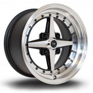 Zero 15x8 4x100 ET10 Gloss Black with Polished Face
